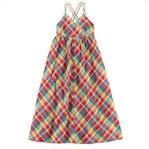 Ralph Lauren Girls' multicolored maxi dress.